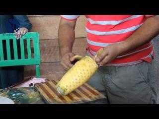 Как чистить ананас. Супер способ!