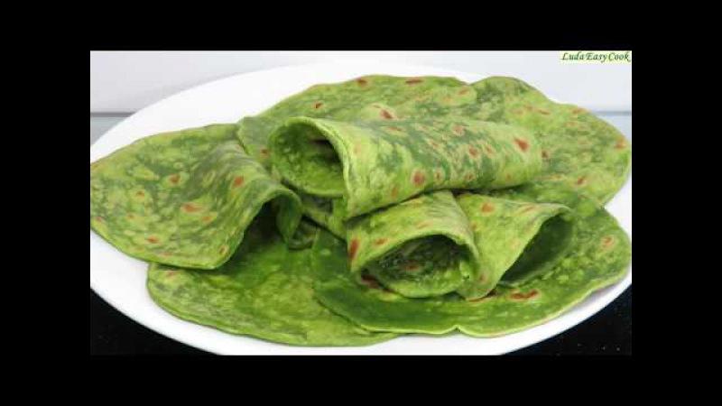 НАТУРАЛЬНЫЙ ЗЕЛЕНЫЙ ЛАВАШ для ШАУРМЫ и РОЛЛОВ Lavash Bread GREEN FLATBREAD RECIPE