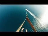 Полет над морем в Евпатории. Пляж