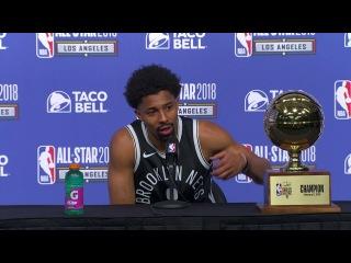 Spencer Dinwiddie on Winning Skills Challenge | 2018 NBA All-Star Saturday Night