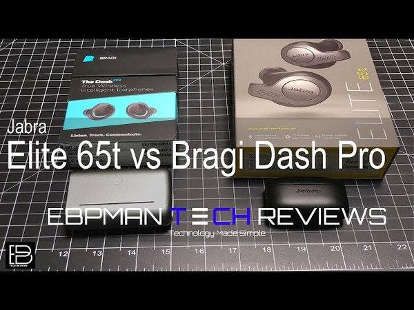 Jabra Elite 65t vs Bragi Dash Pro | Comparison with Outdoor Call Quality Demo