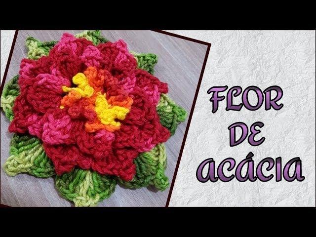 Flor de acácia em crochê Silvana Todeschini Artsil