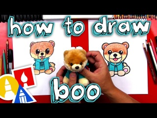 Kids' English | How To Draw Boo The Cutest Dog In The World - Gund Giveaway!