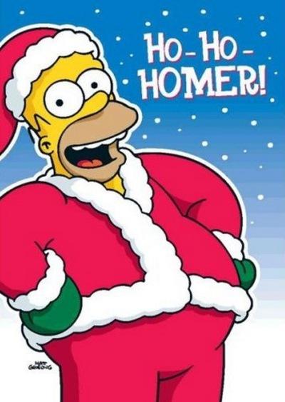 Картинки гомер симпсон новый год
