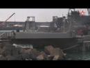 Экипаж корабля ЮВО уничтожил подлодку диверсантов реактивными глубинными бомбами
