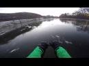 Безумное катание по замерзшей реке
