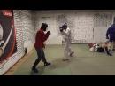 Тренировка по армейскому рукопашному бою, спарринги.