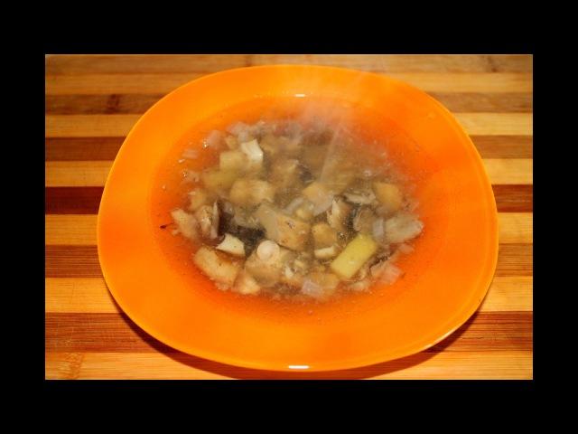 Русская кухня Груздянка из груздей и опят Грибной суп