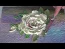 Объемная живопись листья розы