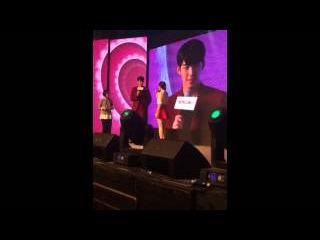 141018 Fancam Kim Woo Bin @ Hanajirushi Fan Meeting in Beijing