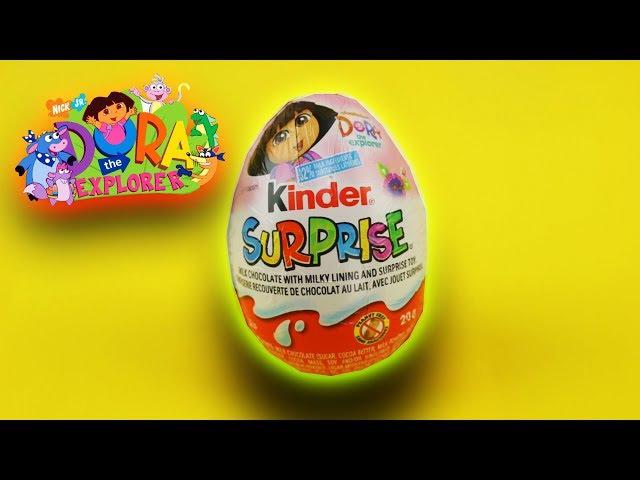 New 2017 Dora The Explorer Kinder Surprise eggs Nikelodeon Opening Toys for Girl Huevos Sorpresa