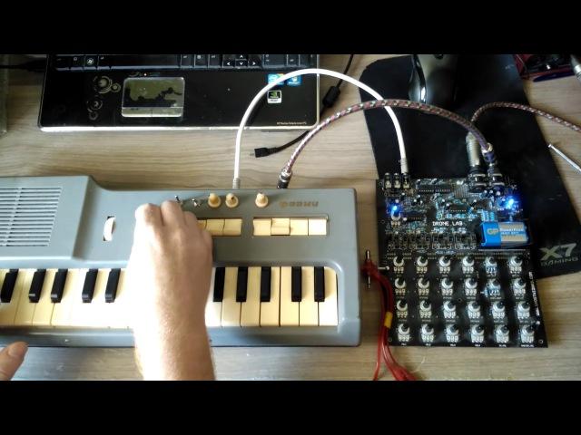 Modified Soviet synth Faemi with new VCF by kNoB tech dronelab Test analog sound