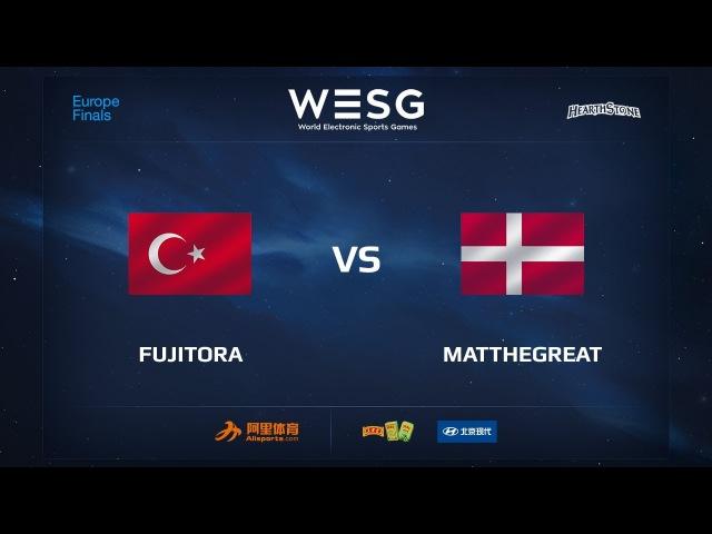Fujitora vs MatTheGreat, Part 1, WESG 2017 Hearthstone European Qualifier Finals