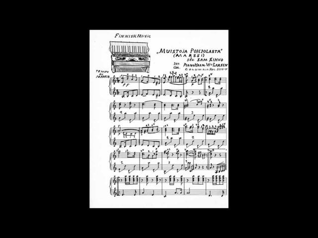 MUISTOJA POHJOLASTA Willy Larsen harmonikka ja Kosti Tamminen kitara v 1928