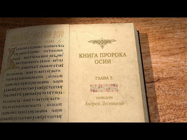 Книга пророка Осии. Глава 5. Библия. Профессор Андрей Десницкий.