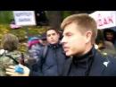 Депутата фракции Порошенко закидали яйцами под крики Мудак Губошлеп