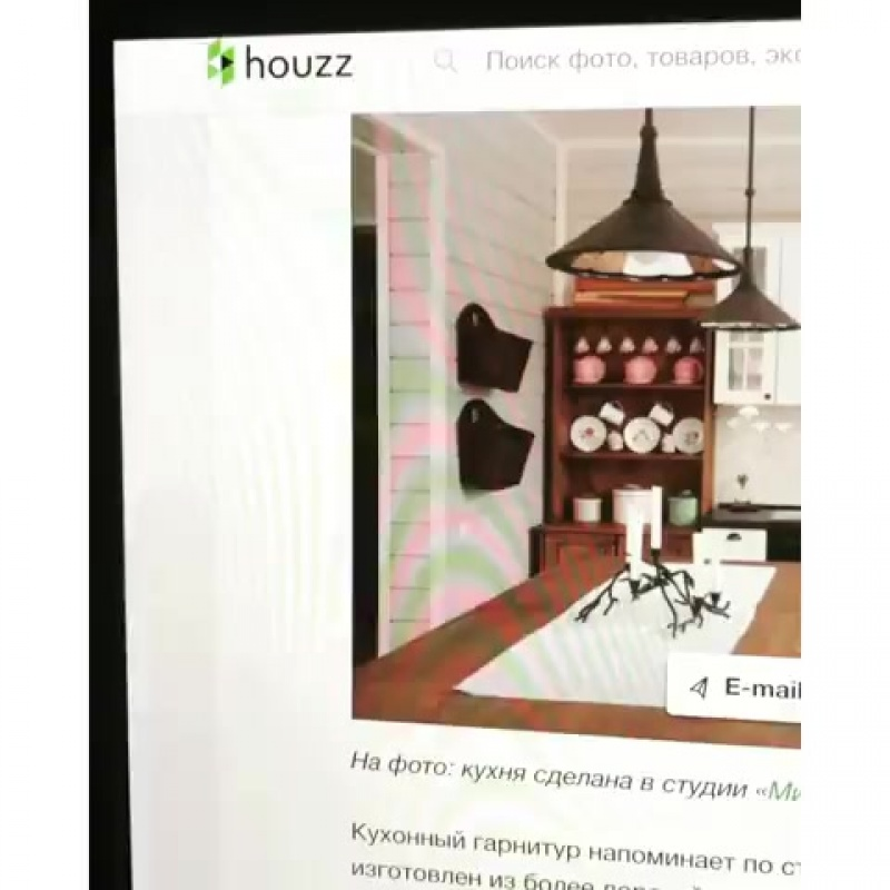 Фото нашей кухни для Антона и его семьи,  опубликовано на Houzz.ru. Нам очень приятно. Кухня отлично вписалась в интерьер этого