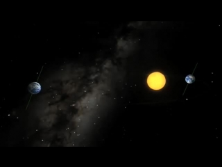 Earths motion around the Sun, not as