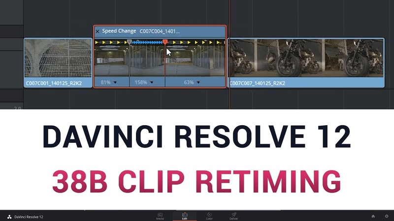 DaVinci Resolve 12 38b Clip Retiming