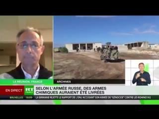 """Bruno Guigue : Quand ses mercenaires sont dans le pétrin, l'OTAN ressort le joker """"attaque chimique"""" ! (2min54s)"""