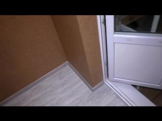Отделка лоджии пробка на стену (часть 3) строим для себя