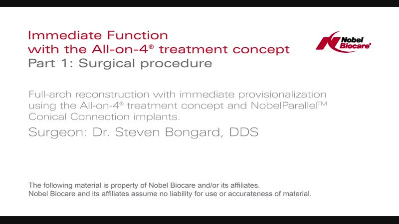 All on 4® treatment concept clinical case surgical procedure and denture conver
