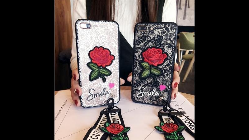 3D Lace Rose Flowers Vintage Telefon Kilifi Case
