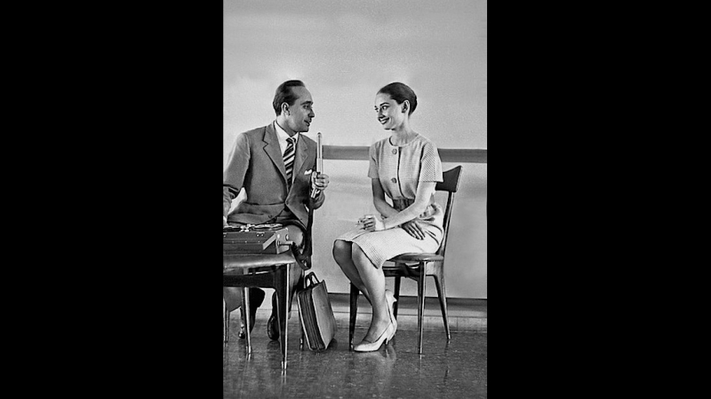 1958 6 16 Radio interview conducted by Lello Bersani at the Ciampino Airport Itali