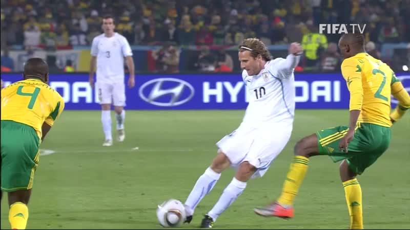 ЧМ 2010 Гол Диего Форлана в ворота сборной ЮАР