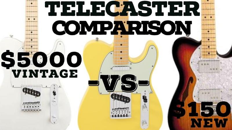 2016 $5000 VS $150 Guitar Comparison 61 Fender Telecaster VS Peavey Reactor VS Thinline