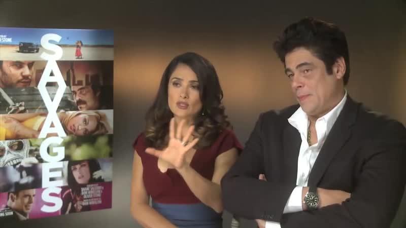 Сальма Хайек и Бенисио дель Торо в интервью для «Empire Magazine» (2012)