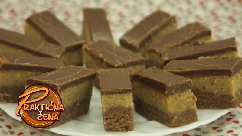 Сербский торт без выпечки, с печеньем, маслом, миндалем, фундуком, шоколадной глазурью Praktična žena - Domaće bajadere