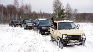 Двухмоторная ОКА 4х4 ведёт всех к ШАРУ! Снежная экспедиция.
