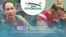 Yana Noskova vs Polina Mikhailova 2019 ITTF Nigeria Open Highlights Final