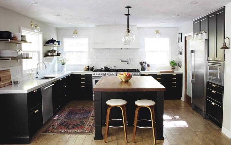 Черно-белая кухня – особенности контрастного дизайна., изображение №5