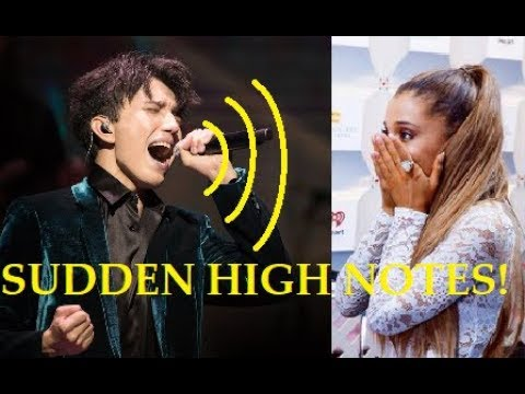 SUDDEN HIGH NOTES! - Famous Singers