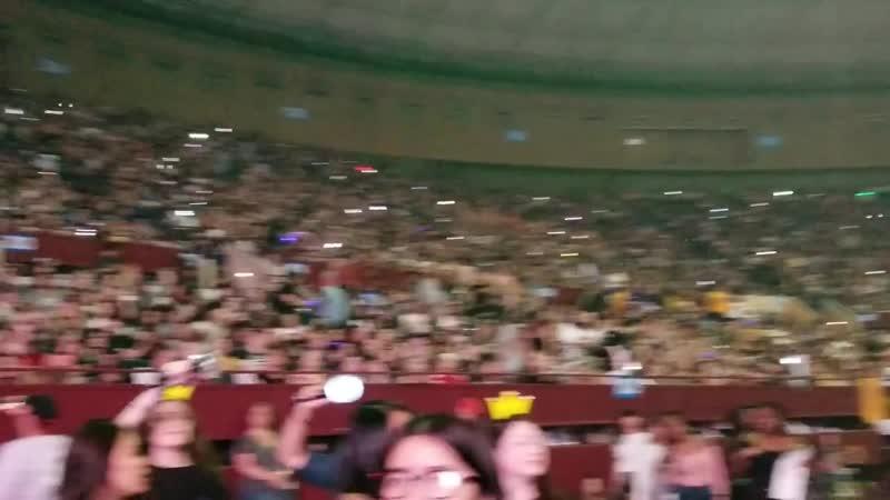 Fans singing Epiphany BTS LYST Fort Worth