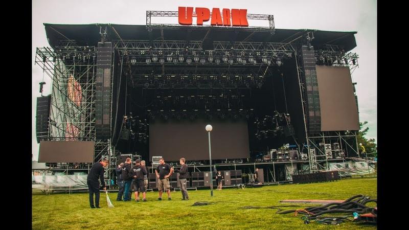 Лазурный бассейн и овечка для Die Antwoord что происходит на локации UPark за день до фестиваля
