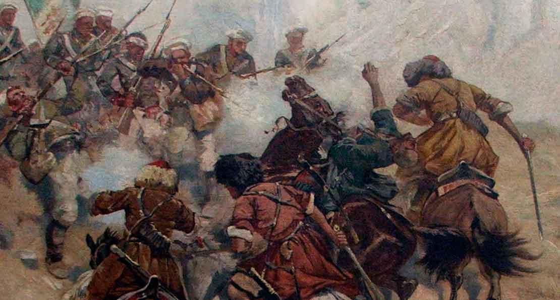Бой с солдатами