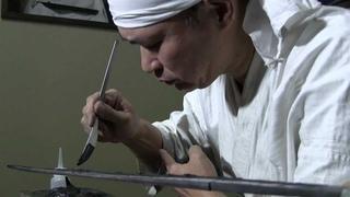 土置き Katana making(4)