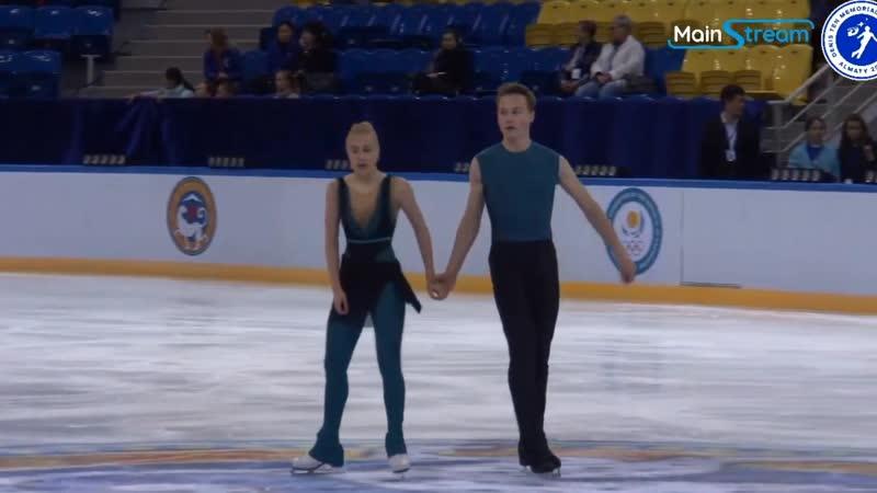 Denis Ten Memorial Challenge Oct 10 - Oct 13, 2019 Almaty KAZ Танцы. Ритм танец Екатерина Миронова — Евгений Устенко.