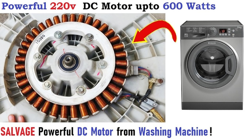 220V DC Motor from Washing Machine upto 600W DIY - Salvage Outrunner BLDC Motor (Trash to Treasure)