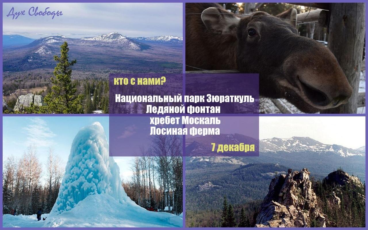 Афиша Челябинск Зюраткуль ледяной фонтан+Москаль+ Лосиная ферма
