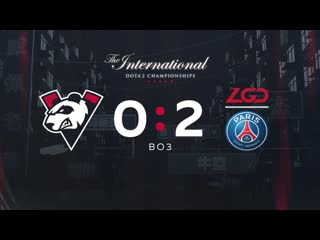 Vp 0 2, bo3. the international 2019