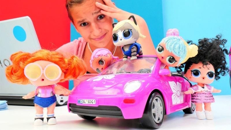 L O L bebekler araba seçiyorlar Asu Ela araba satıcı oluyor Komik çocuk oyunları