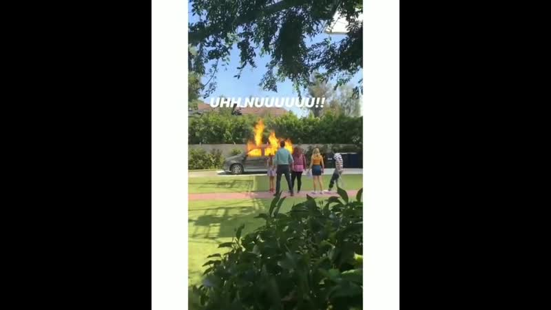 Видео со съёмок сериала Американская домохозяйка .