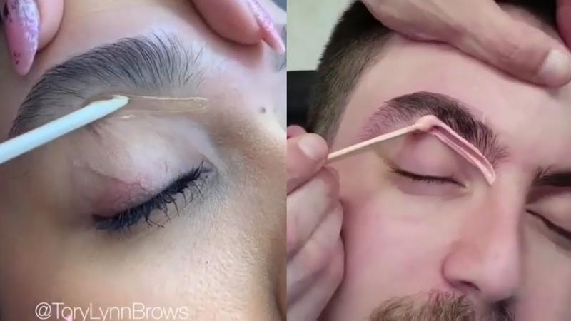 Depilación de cejas con cera / Eyebrow waxing 1 (2019)