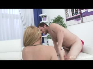 Rebecca Sharon takes balls deep fucking with DAP swallows three loads