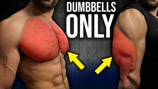 5min. Home CHEST and TRICEPS Workout 2.0 (DUMBBELLS ONLY!!)