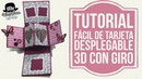Tutorial fácil Tarjeta desplegable pop up con giro twist pop card
